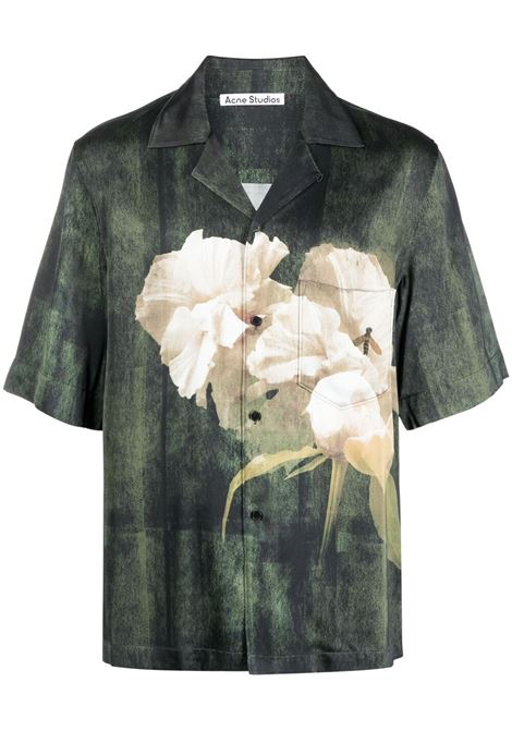 Acne Studios camicia simon uomo dark green ACNE STUDIOS | Camicie | BB0341AAX
