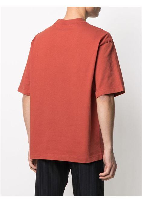 T-shirt a maniche corte con logo rosso- uomo ACNE STUDIOS | BL0198ADX