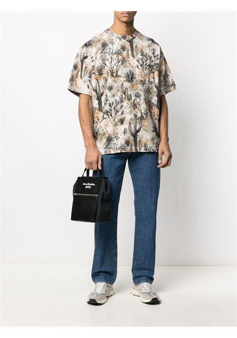 T-shirt con stampa grafica beige- uomo ACNE STUDIOS | BL0251AE1