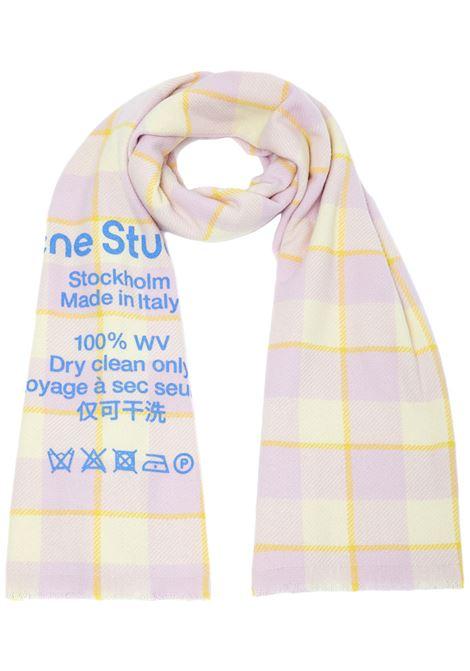 Acne Studios sciarpa cassiar donna light pink pale yellow ACNE STUDIOS | Sciarpe | CA0103CNQ