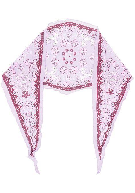 Acne Studios sciarpa con stampa paisley donna lilac burgundy ACNE STUDIOS | Sciarpe | CA0126AMP