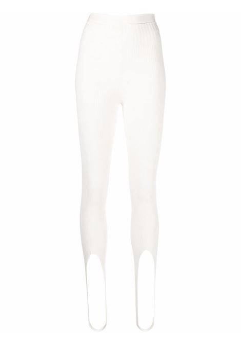 Adamo leggings con staffe donna ivory ADAMO | Leggings | ADSS21LE010140600060