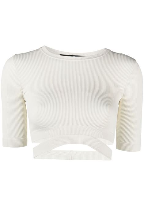 Adamo top crop donna ivory ADAMO | Top | ADSS21TO010150600060