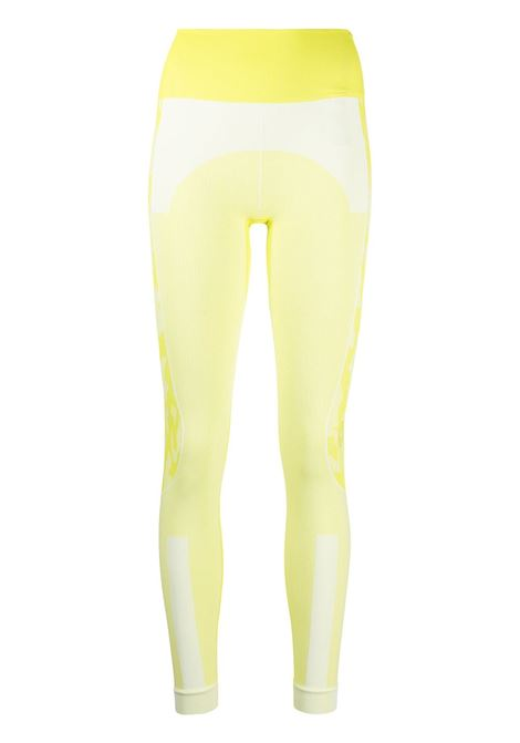Adidas By Stella Mc Cartney leggings a contrasto donna  white ADIDAS BY STELLA MC CARTNEY | Leggings | GL7585ACYLWHT