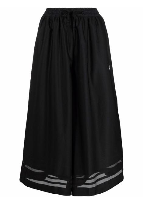 Black wide-leg trousers - men ADIDAS | Shorts | GN3180BLK
