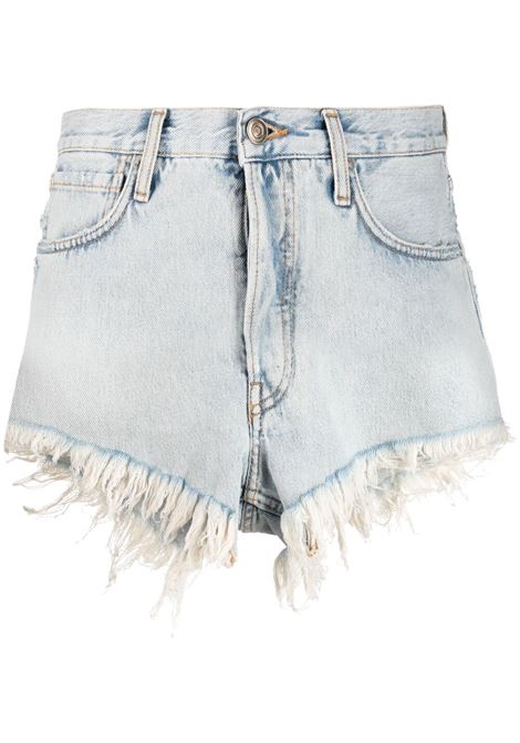 Alanui fringed shorts women denim blue ALANUI | Shorts | LWYC005S21DEN0014141