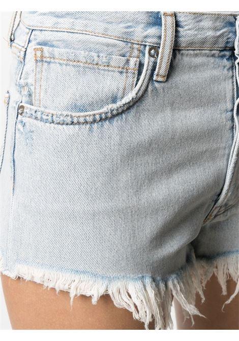 Alanui fringed shorts women denim blue ALANUI | LWYC005S21DEN0014141