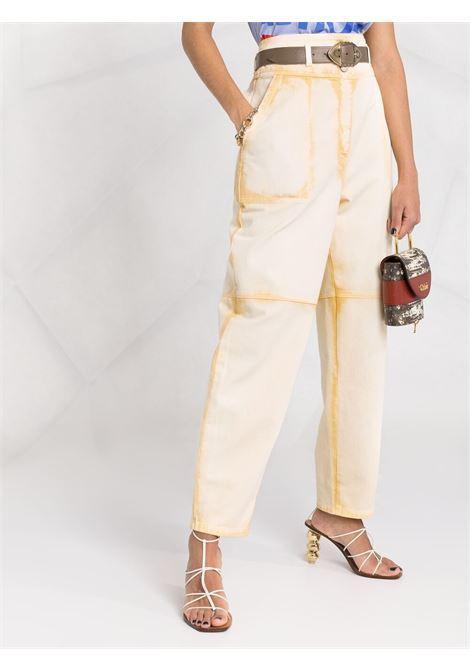 Alberta ferretti high-waisted trousers women fantasia giallo ALBERTA FERRETTI   A03181811021
