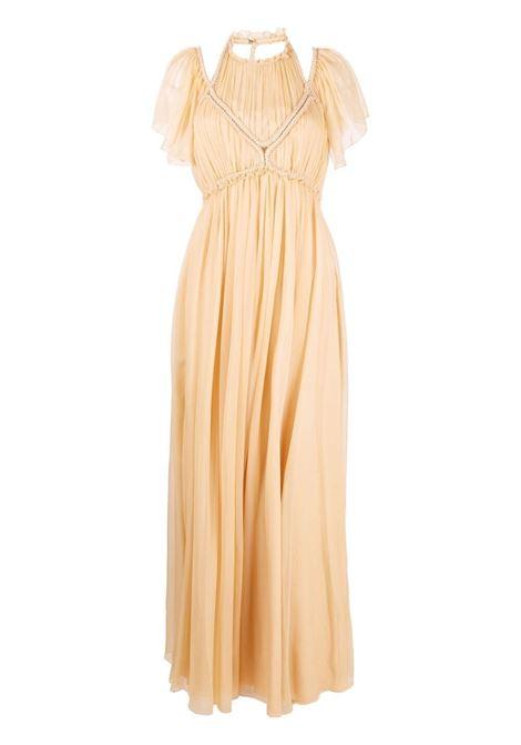 Alberta ferretti halterneck gown women beige ALBERTA FERRETTI | Dresses | A042511416