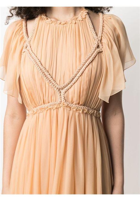 Alberta ferretti halterneck gown women beige ALBERTA FERRETTI   A042511416