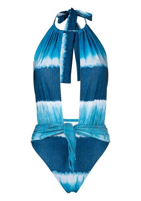 Alberta Ferretti costume con fantasia tie dye donna fantasia blu ALBERTA FERRETTI | Costumi | J42021921342
