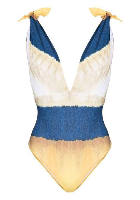 Alberta Ferretti costume con fantasia tie dye donna fantasia marrone ALBERTA FERRETTI | Costumi | J42091921087