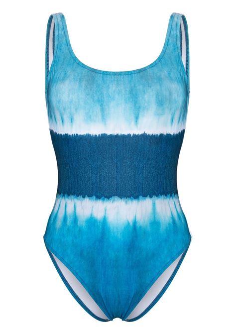 Alberta Ferretti costume con fantasia tie dye donna fantasia blu ALBERTA FERRETTI | Costumi | J42141921342