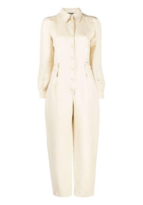 Contrasting collar jumpsuit ALBERTA FERRETTI | Dresses | V04381217