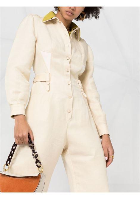 Contrasting collar jumpsuit ALBERTA FERRETTI   V04381217