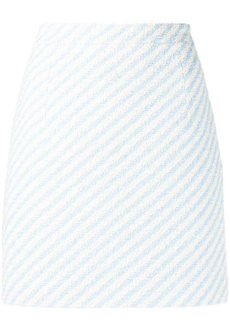Alessandra Rich minigonna a righe donna light blue ALESSANDRA RICH   Gonne   FAB1441F31721674