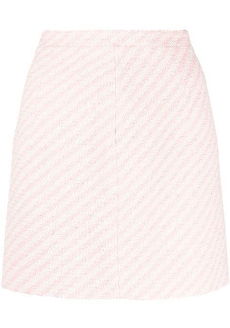 Alessandra Rich minigonna a righe donna pink white ALESSANDRA RICH | Gonne | FAB1441F31721816
