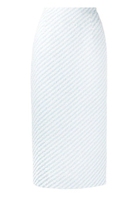 Alessandra Rich gonna a tubino donna light blue white ALESSANDRA RICH | Gonne | FAB1817F31721674