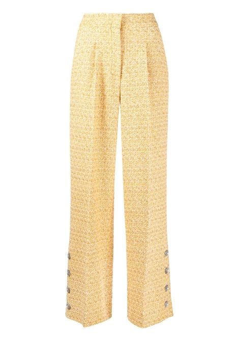 Alessandra Rich pantaloni in tweed donna yellow white ALESSANDRA RICH | Pantaloni | FAB2348F31941624