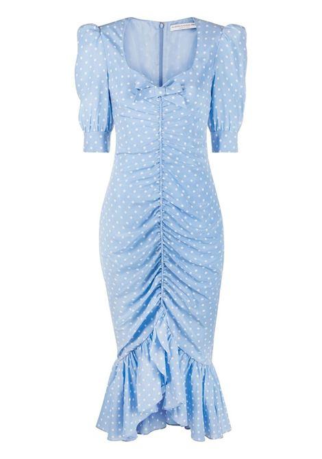 Alessandra Rich abito a pois donna light blue ALESSANDRA RICH   Abiti   FAB2351F31321674