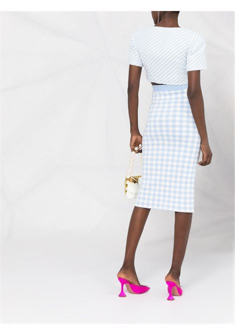 Alessandra rich striped blazer women light blue white ALESSANDRA RICH   FAB2352F31721674
