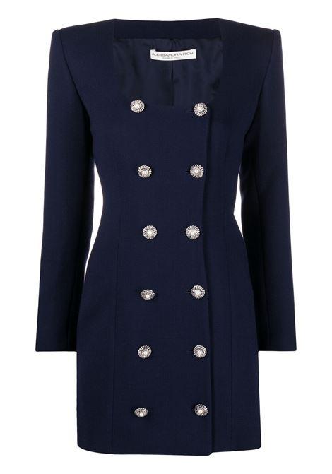 Alessandra Rich abito con bottoni donna blue navy ALESSANDRA RICH | Abiti | FAB2358F31901944