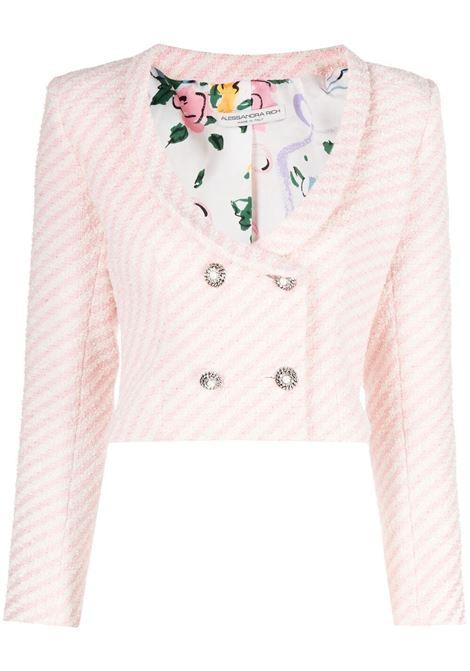 Alessandra Rich giacca corta donna pink white ALESSANDRA RICH   Giacche   FAB2385F31721816
