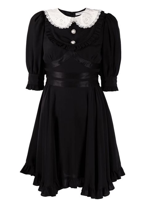 Alessandra Rich abito con colletto alla peter pan donna black ALESSANDRA RICH | Abiti | FAB2398F3057900