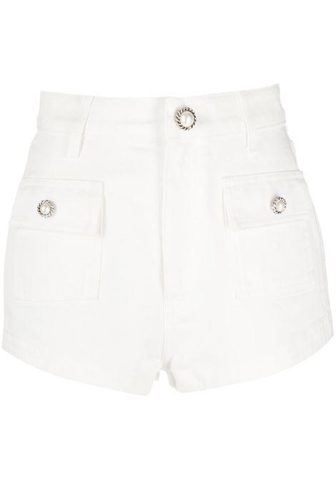 Alessandra Rich pantaloncini a vita alta donna white ALESSANDRA RICH   Shorts   FAB2403F3208002