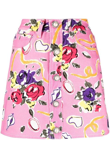 Alessandra Rich gonna floreale donna pink ALESSANDRA RICH   Gonne   FAB2406F31061921