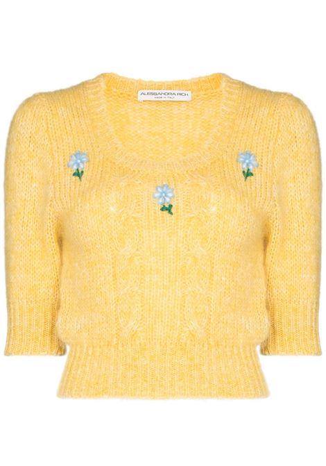 Alessandra Rich maglione lavorato a maglia donna light yellow ALESSANDRA RICH | Maglie | FAB2461K321218362