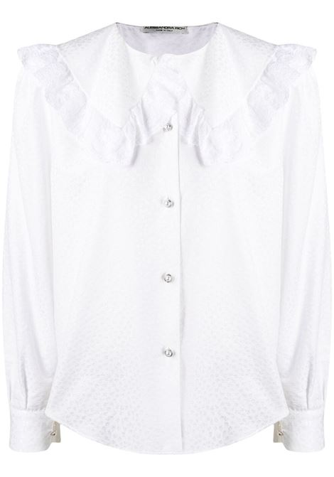 Alessandra Rich blusa con colletto in pizzo donna white ALESSANDRA RICH | Camicie | FAB2475F3204822