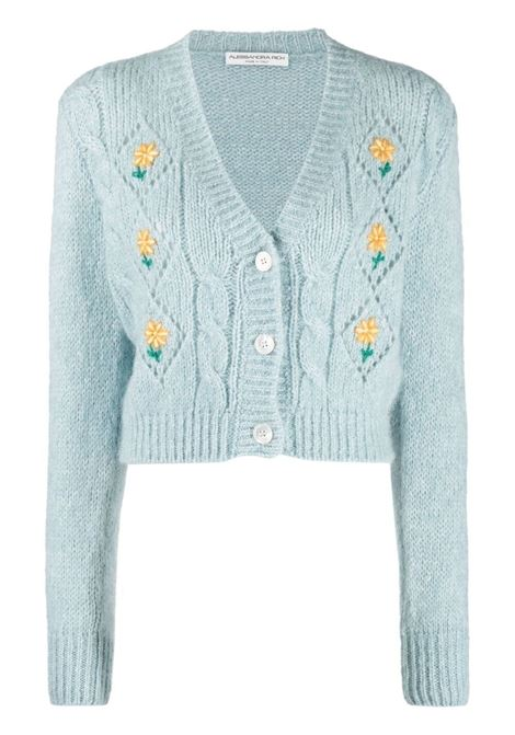 Alessandra rich floral cardigan women light blue ALESSANDRA RICH | Sweaters | FAB2507K321218359