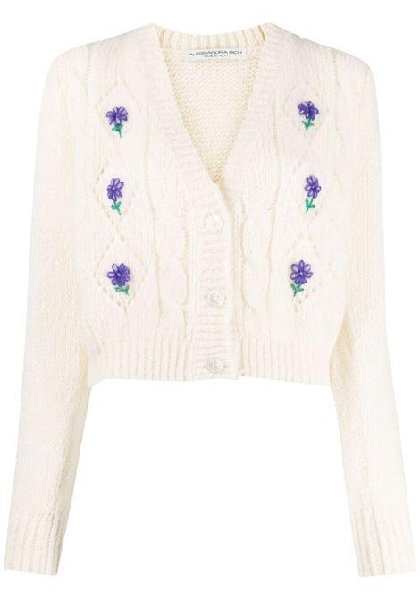 Alessandra rich cardigan a fiori donna white ALESSANDRA RICH | Maglie | FAB2507K321218811