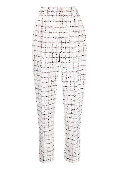Alessandra Rich pantaloni sartoriali a quadri donna white blue pink ALESSANDRA RICH | Pantaloni | FAB2518F3170822