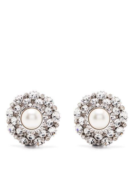 Alessandra Rich orecchini rotonde donna crystal silver ALESSANDRA RICH | Orecchini | FABA2285J034001