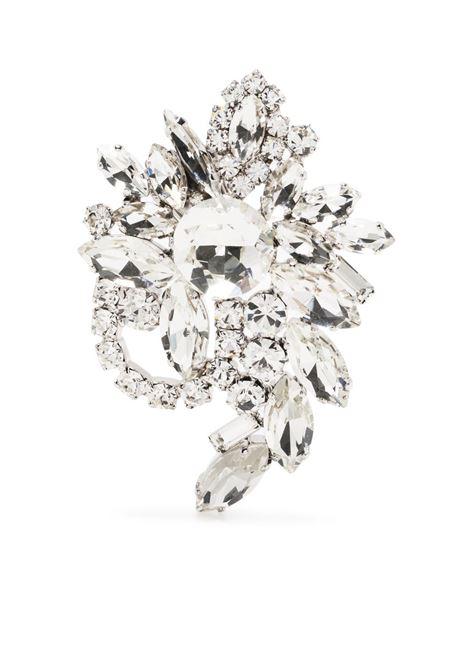 Alessandra Rich orecchini a fiore con cristalli donna crystal silver ALESSANDRA RICH | Orecchini | FABA2290J004001