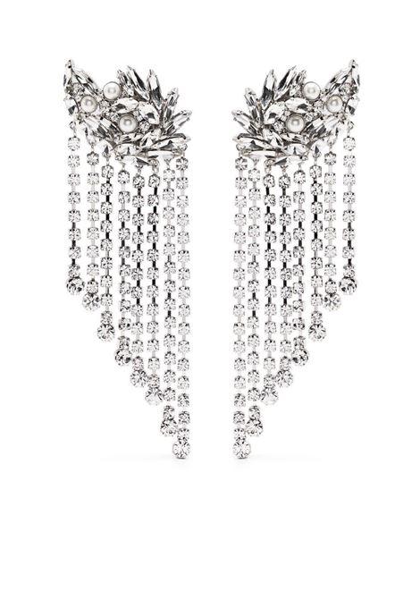 Alessandra Rich orecchini con frange donna crystal silver ALESSANDRA RICH | Orecchini | FABA2291J034001