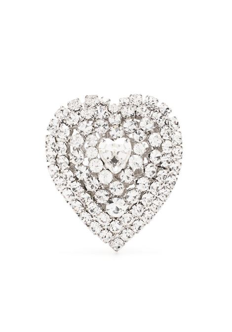 Alessandra rich crystal heart earrings women crystal silver ALESSANDRA RICH | Earrings | FABA2312J004001