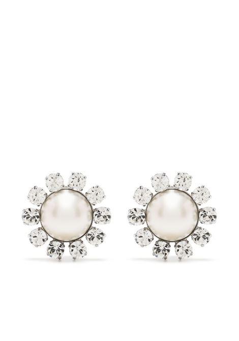 Alessandra Rich orecchini a fiore donna crystal silver ALESSANDRA RICH | Orecchini | FABA2318J034001