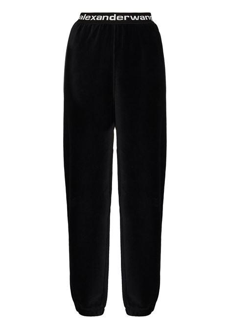 Alexander Wang  pantaloni sportivi a coste donna black ALEXANDER WANG | Pantaloni | 4CC1204024001