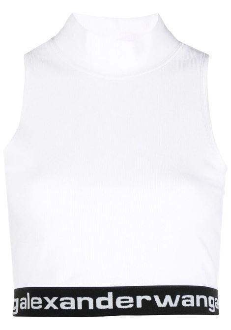 Alexander Wang  top con logo donna bright white ALEXANDER WANG | Top | 4CC2211212111
