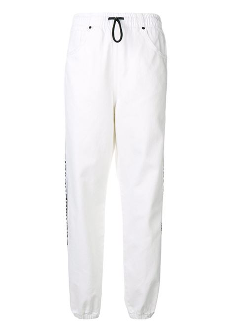 Alexander Wang  pantaloni sportivi con logo donna optic white ALEXANDER WANG | Pantaloni | 4D994326CFOPTCWHT