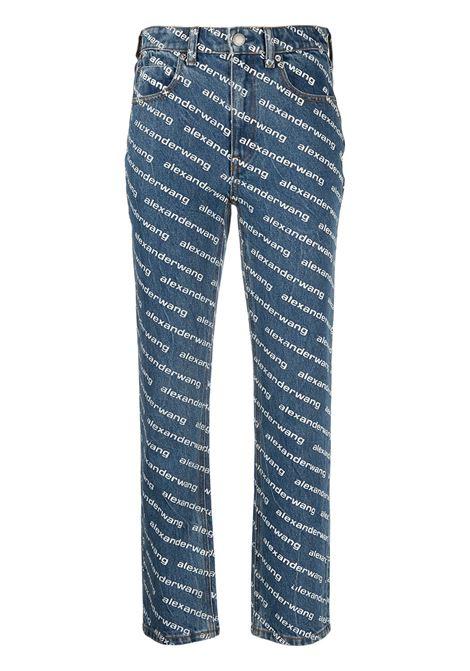 Alexander Wang  jeans con logo donna deep blue white ALEXANDER WANG   Jeans   4DC1214893460