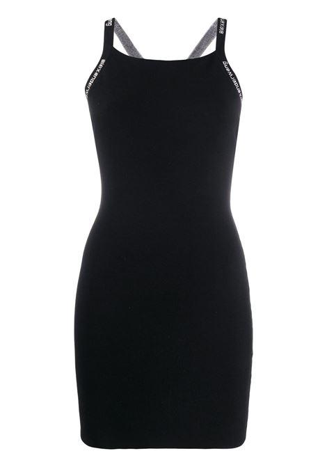 Alexander Wang  abito corto con logo donna black ALEXANDER WANG | Abiti | 4KC2206036001