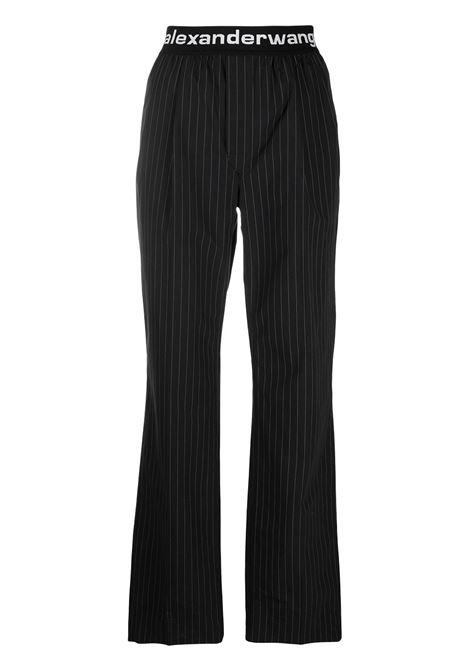 Alexander Wang  pantaloni con logo donna black white ALEXANDER WANG | Pantaloni | 4WC1214074865