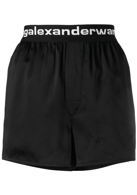 Alexander Wang  shorts con stampa donna black ALEXANDER WANG | Shorts | 4WC2214077001
