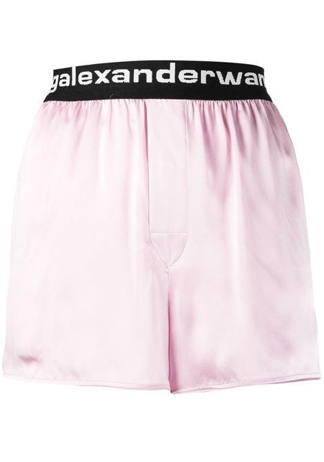 Alexander Wang  shorts con logo donna cradle pink ALEXANDER WANG | Shorts | 4WC2214077682