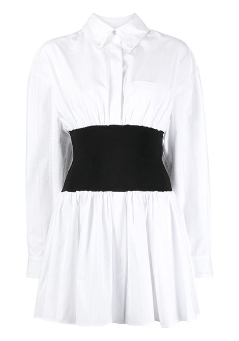 Draped shirt dress ALEXANDRE VAUTHIER | Dresses | 211DR1429WHT