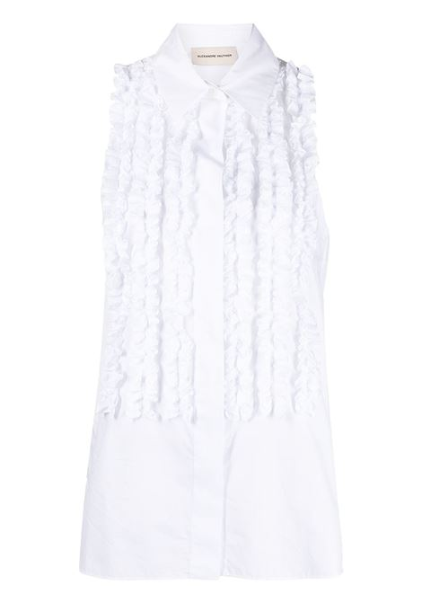 Alexandre Vauthier top con ruches donna white ALEXANDRE VAUTHIER | Top | 211SH1400WHT